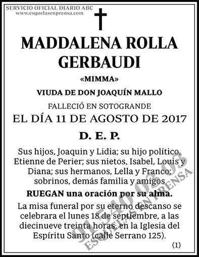 Maddalena Rolla Gerbaudi